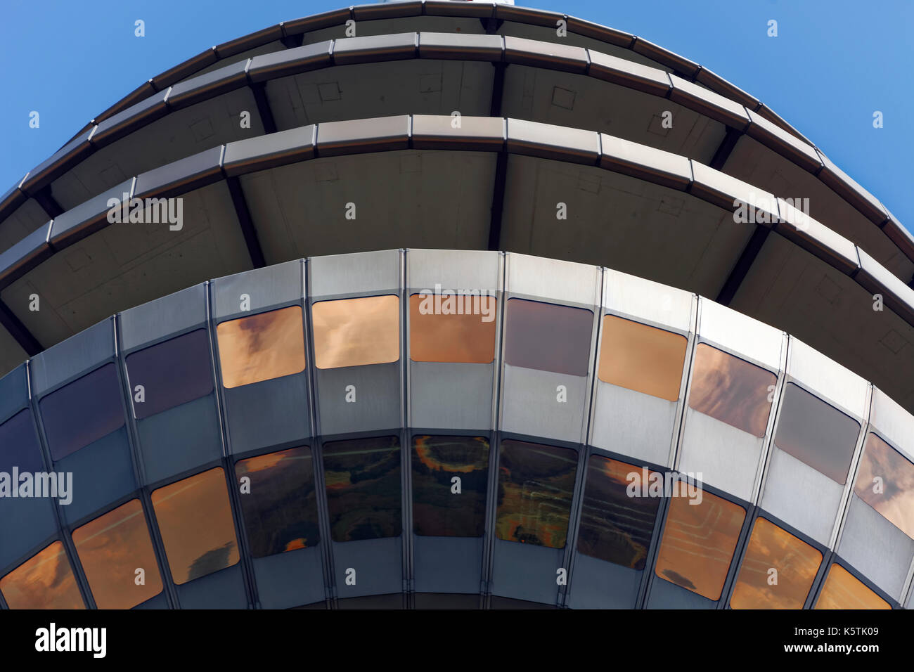 Windows, observation platform, telecommunications tower, Nuremberg, Middle Franconia, Franconia, Bavaria, Germany - Stock Image