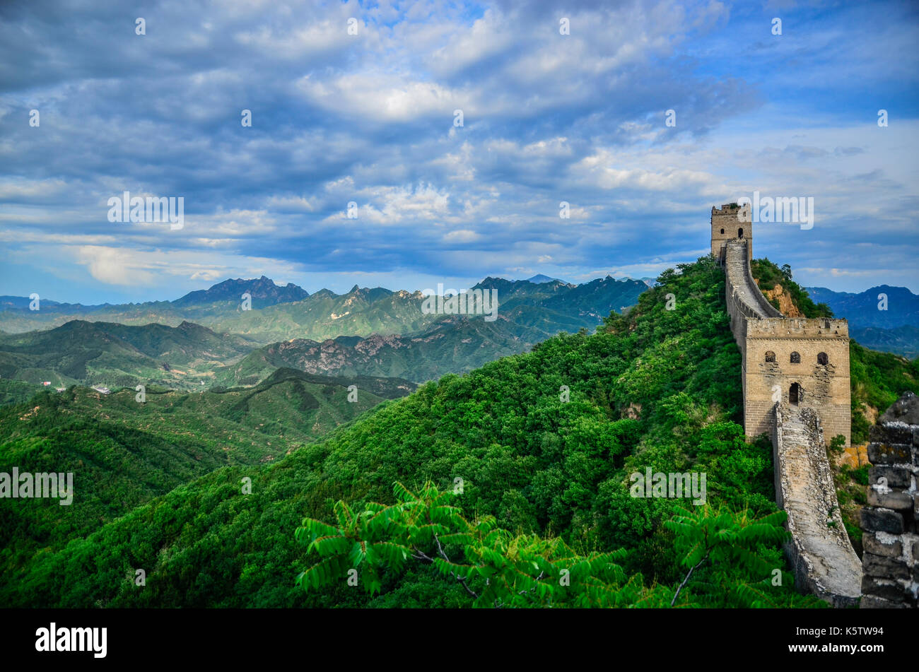 Great Wall Of China Landscape - Stock Image