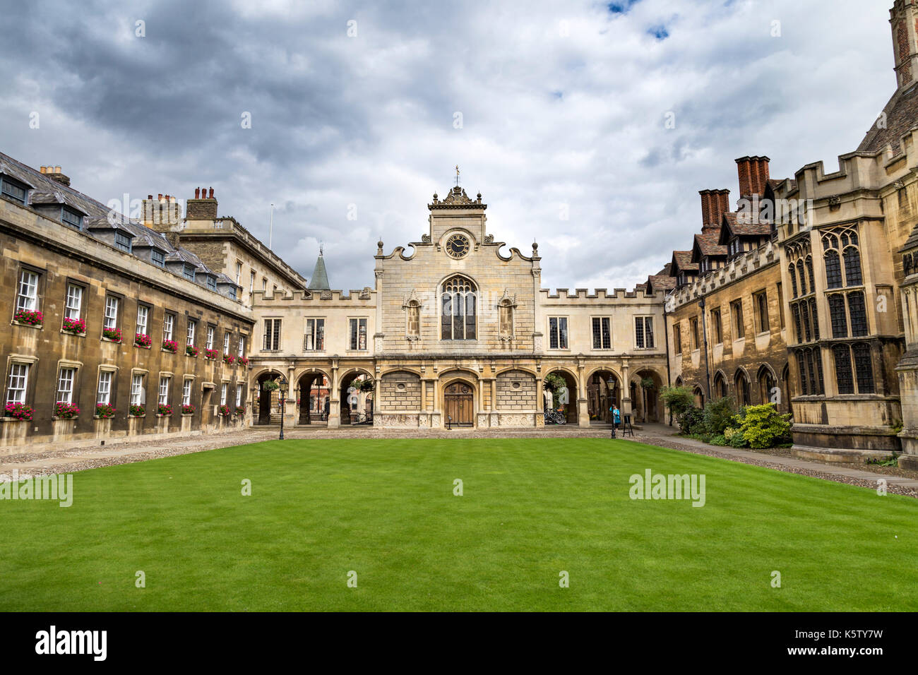 The Old Court of Peterhouse College, Cambridge, UK - Stock Image