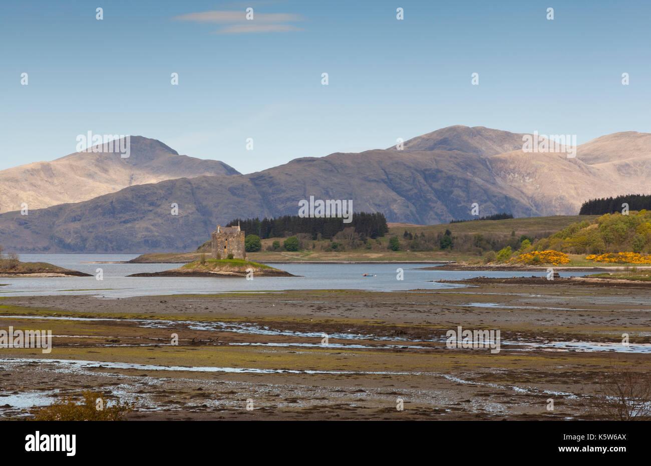 Stalker Castle, Scotland, UK - Stock Image
