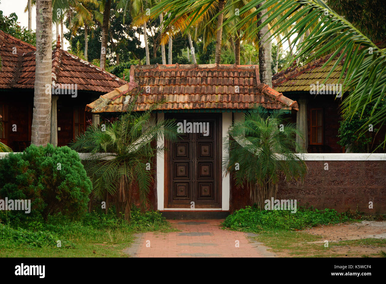 Old Styled Kerala House Entrance   Stock Image