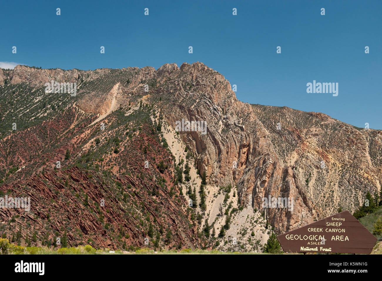 The Uinta Anticline, near Manila, Utah - Stock Image
