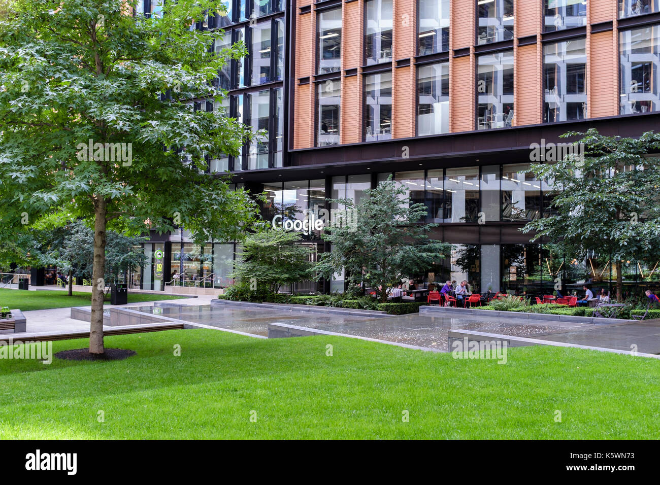 London offices of Google at Pancras Square, King's Cross, London, UK - Stock Image