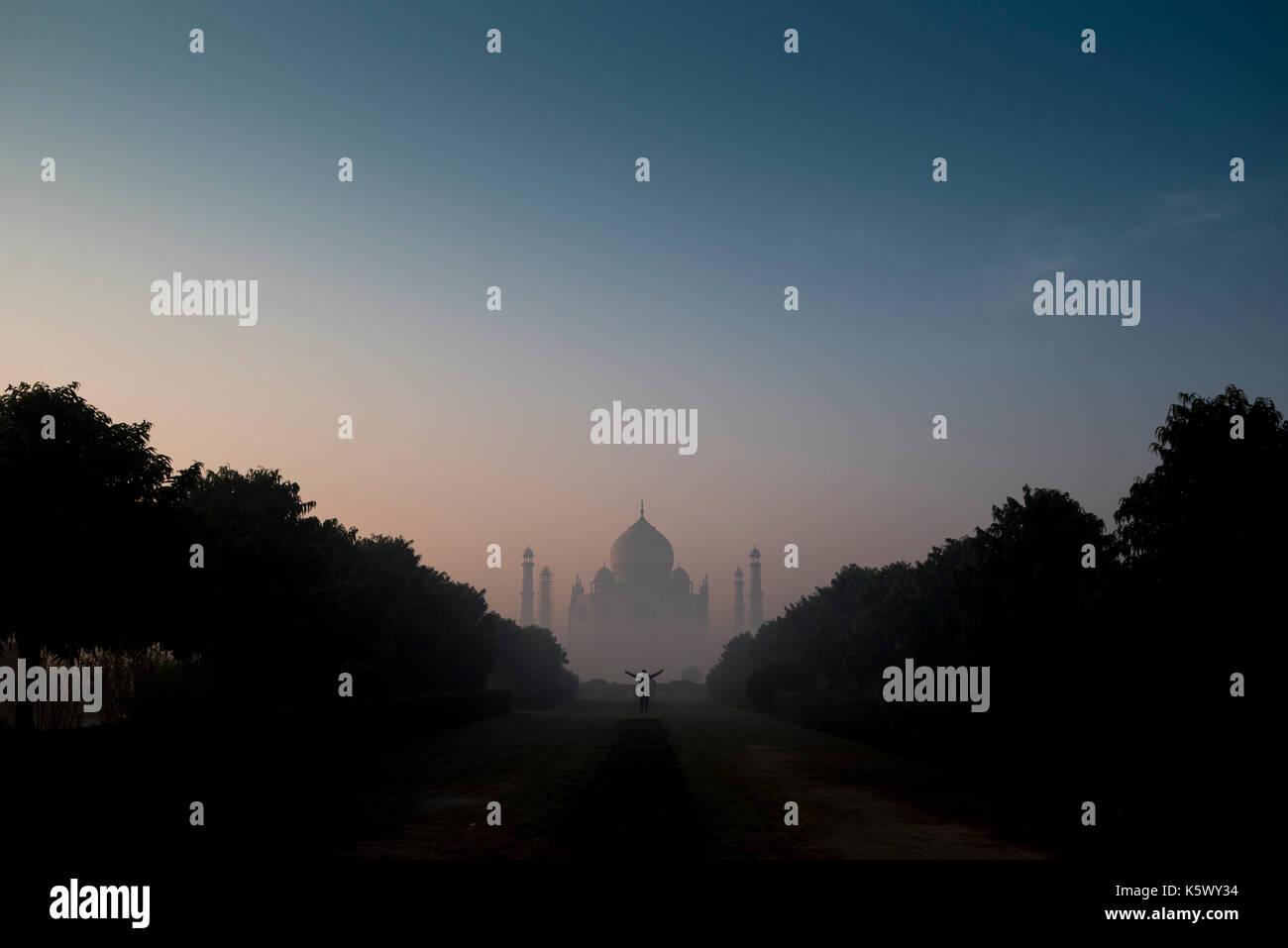 Taj Mahal at Dawn - Stock Image