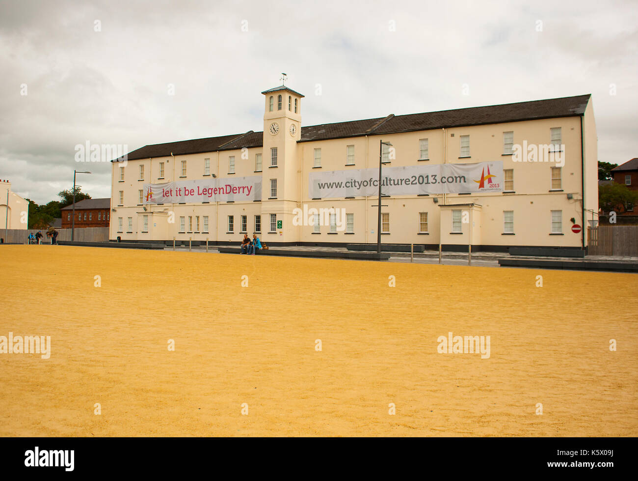The old Ebrington Army barracks the one time home of the South Wales Borderers British army regiment in Londonderry Stock Photo