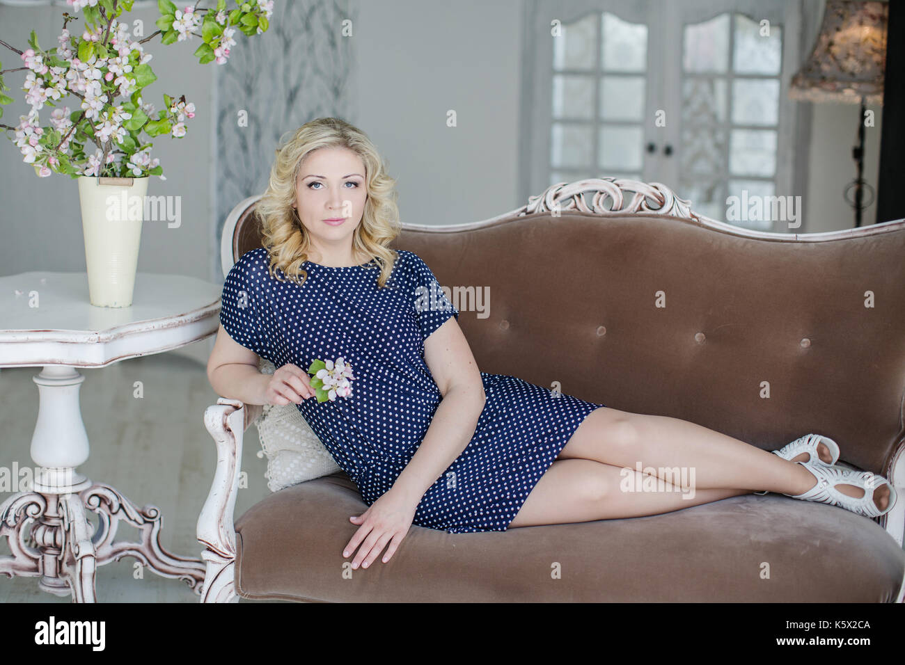fashion modelling for advertisement - Stock Image