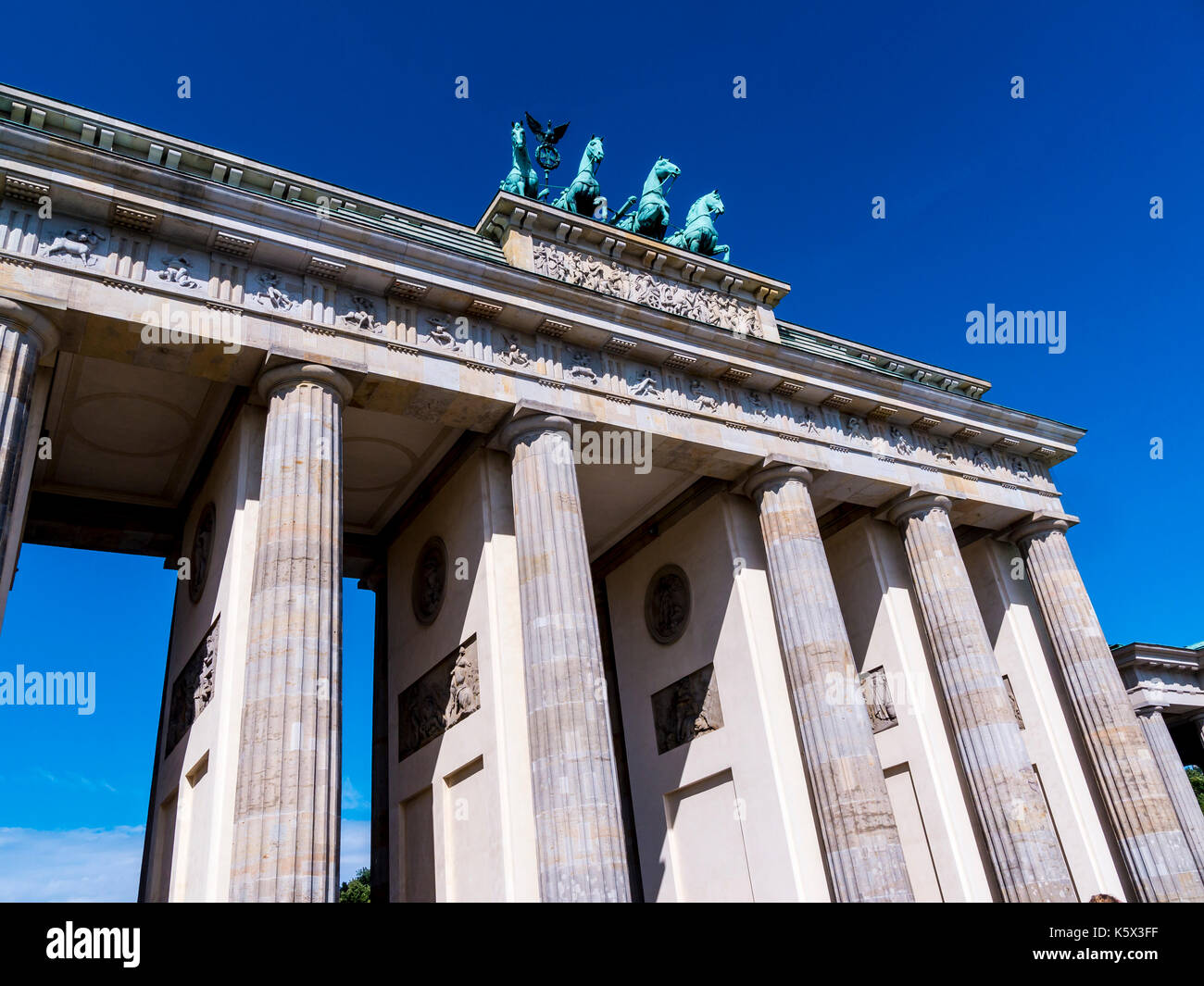 The Brandenburg Gate In Berlin Germany - Stock Image
