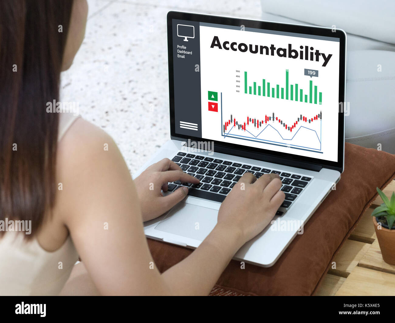 Accountability Savings Account Money Global Finance  calculate the numbers - Stock Image
