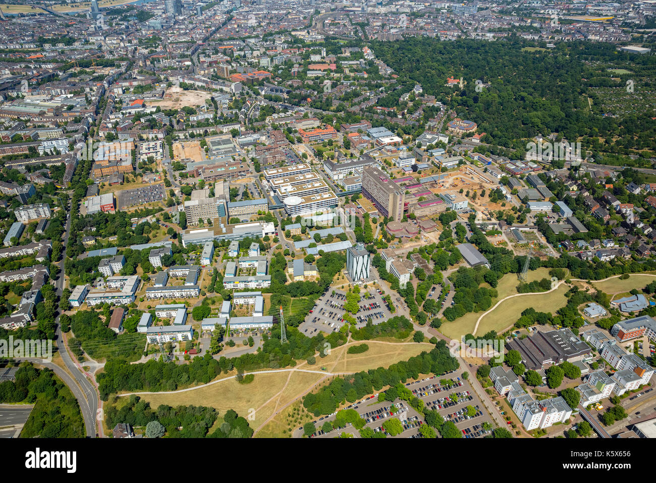 University Hospital of Dusseldorf, UKD - Department of Gastroenterology, Hepatology and Infectious Diseases, Dusseldorf, Rhineland, North Rhine-Westph - Stock Image