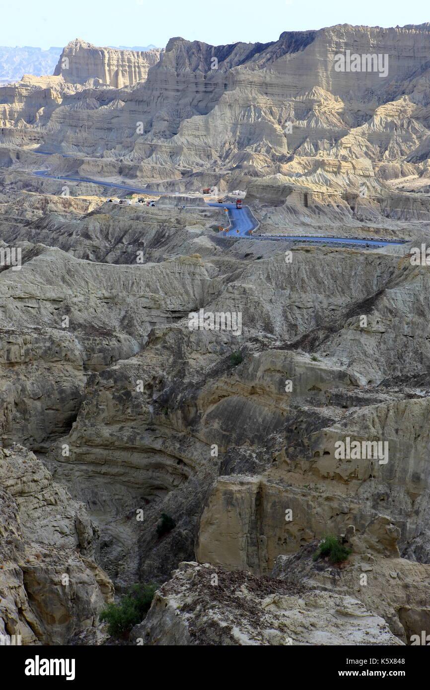 Makran Coastal Highway, Baluchistan, Pakistan - Stock Image