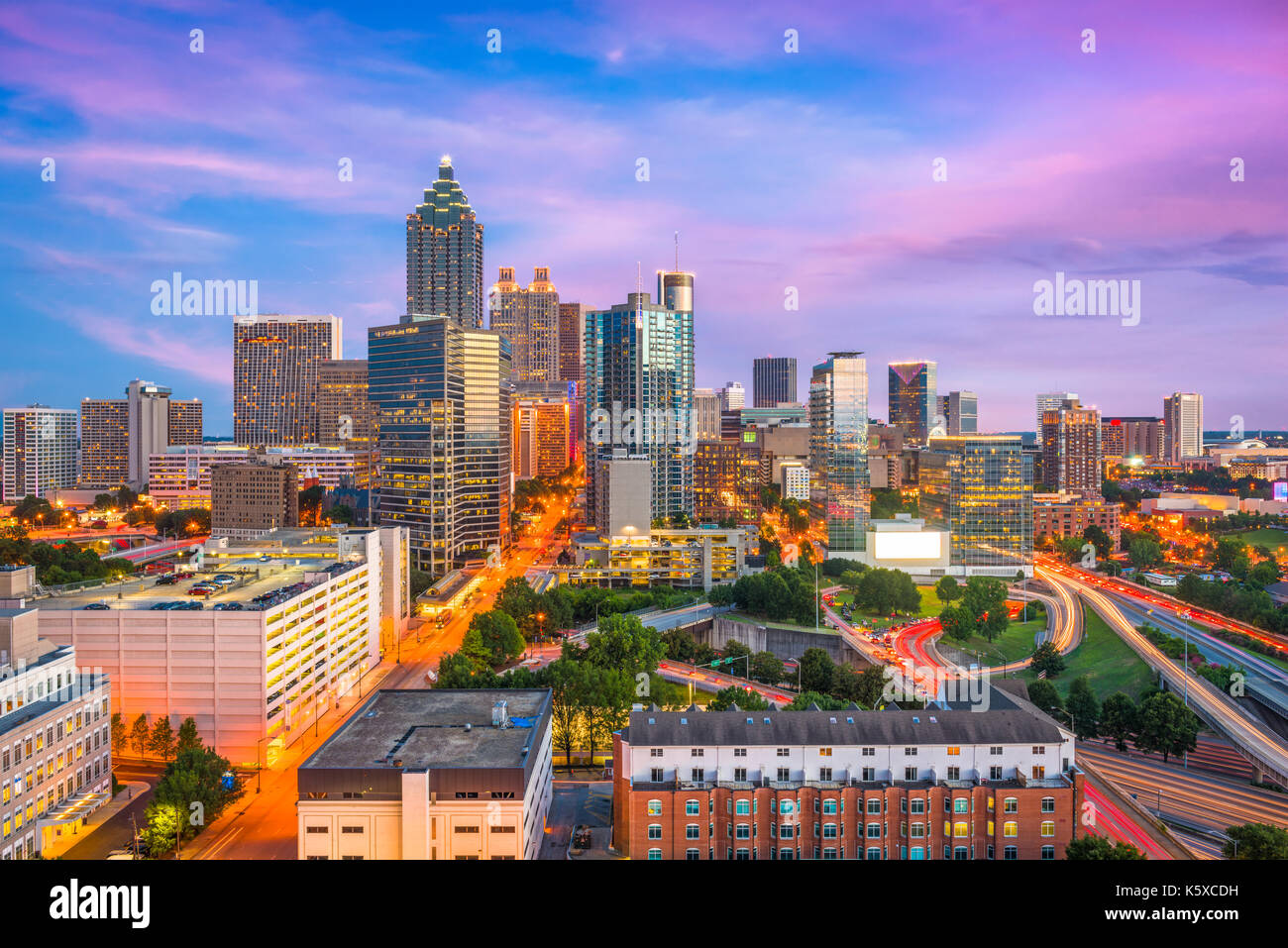 Atlanta, Georgia, USA downtown city skyline. - Stock Image