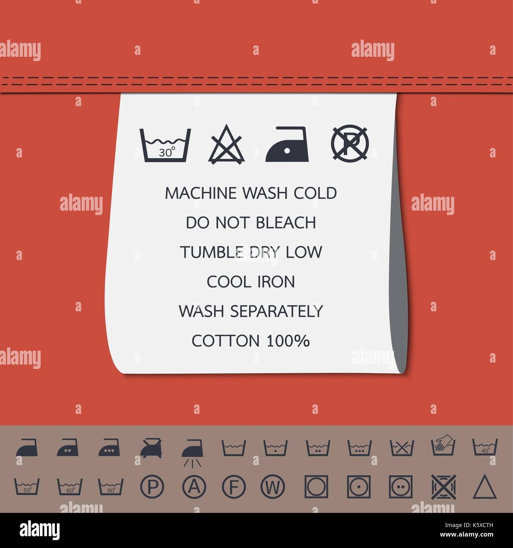 Clothing Label And Washing Symbol Stock Vector Art Illustration
