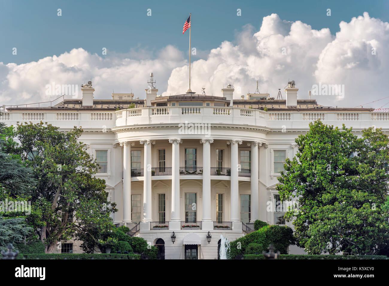 The White House in Washington DC, USA - Stock Image