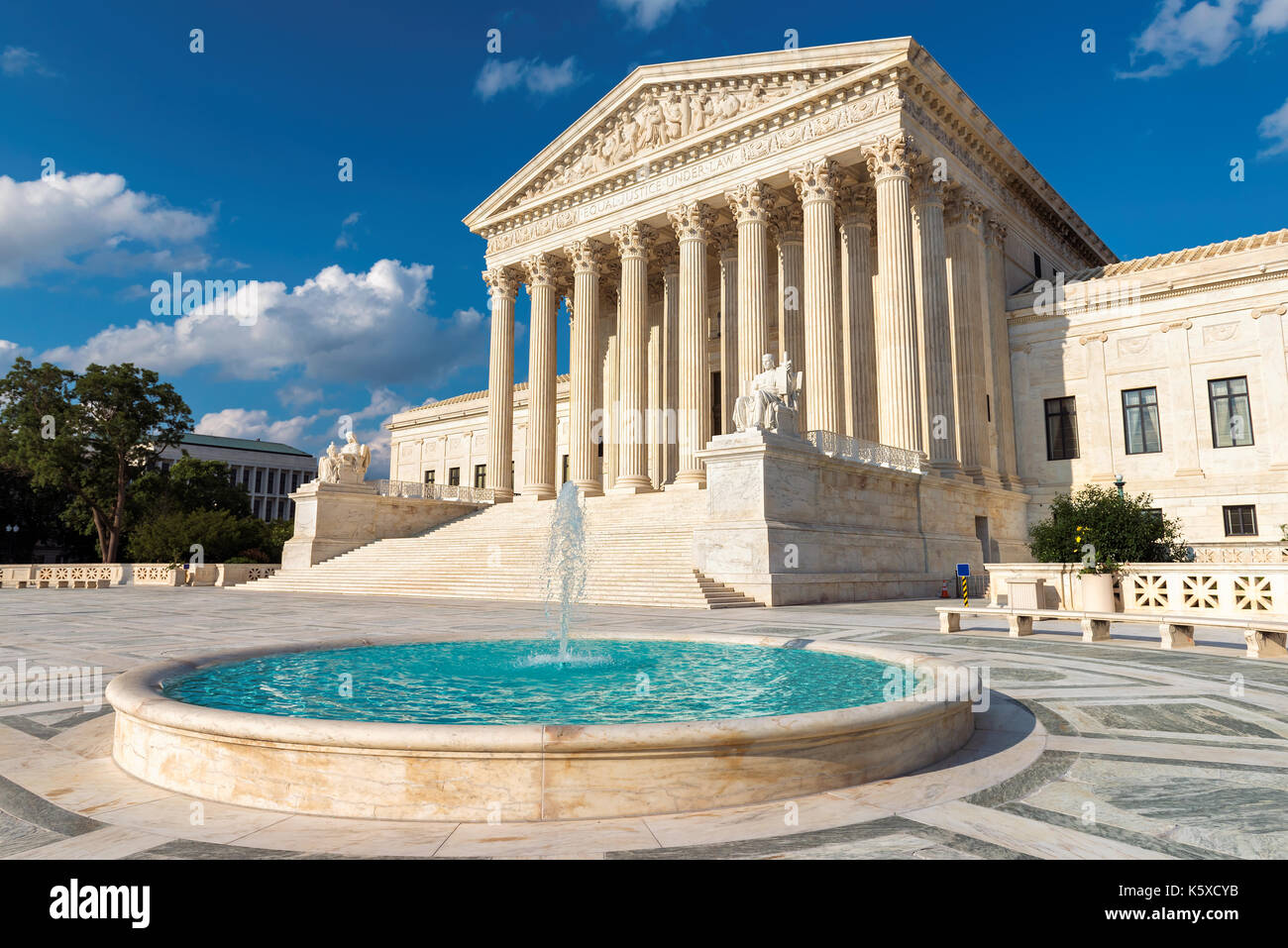 United States Supreme Court Building at sunset in Washington DC, USA. - Stock Image