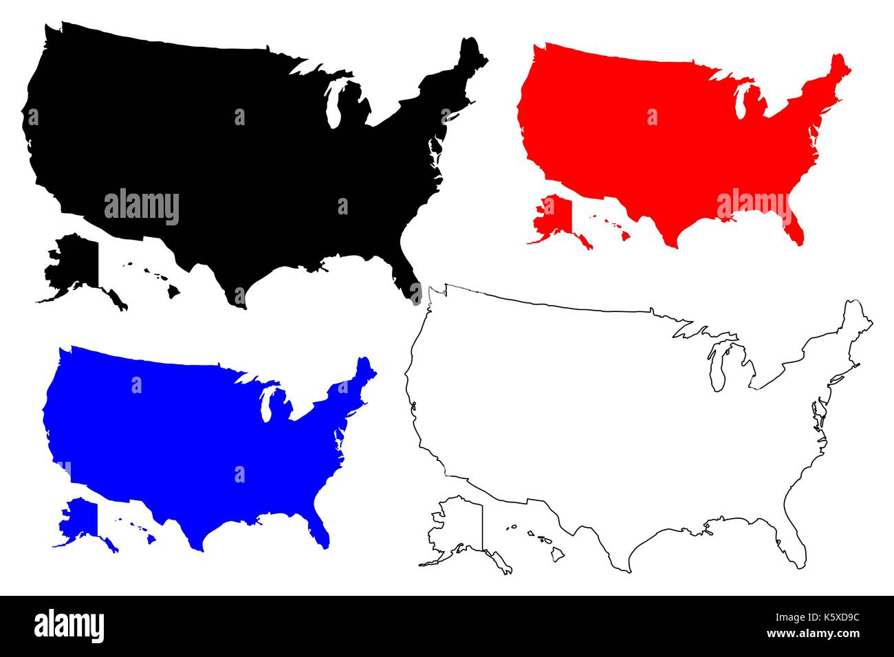 united states of america map vector ilration scribble sketch usa stock image