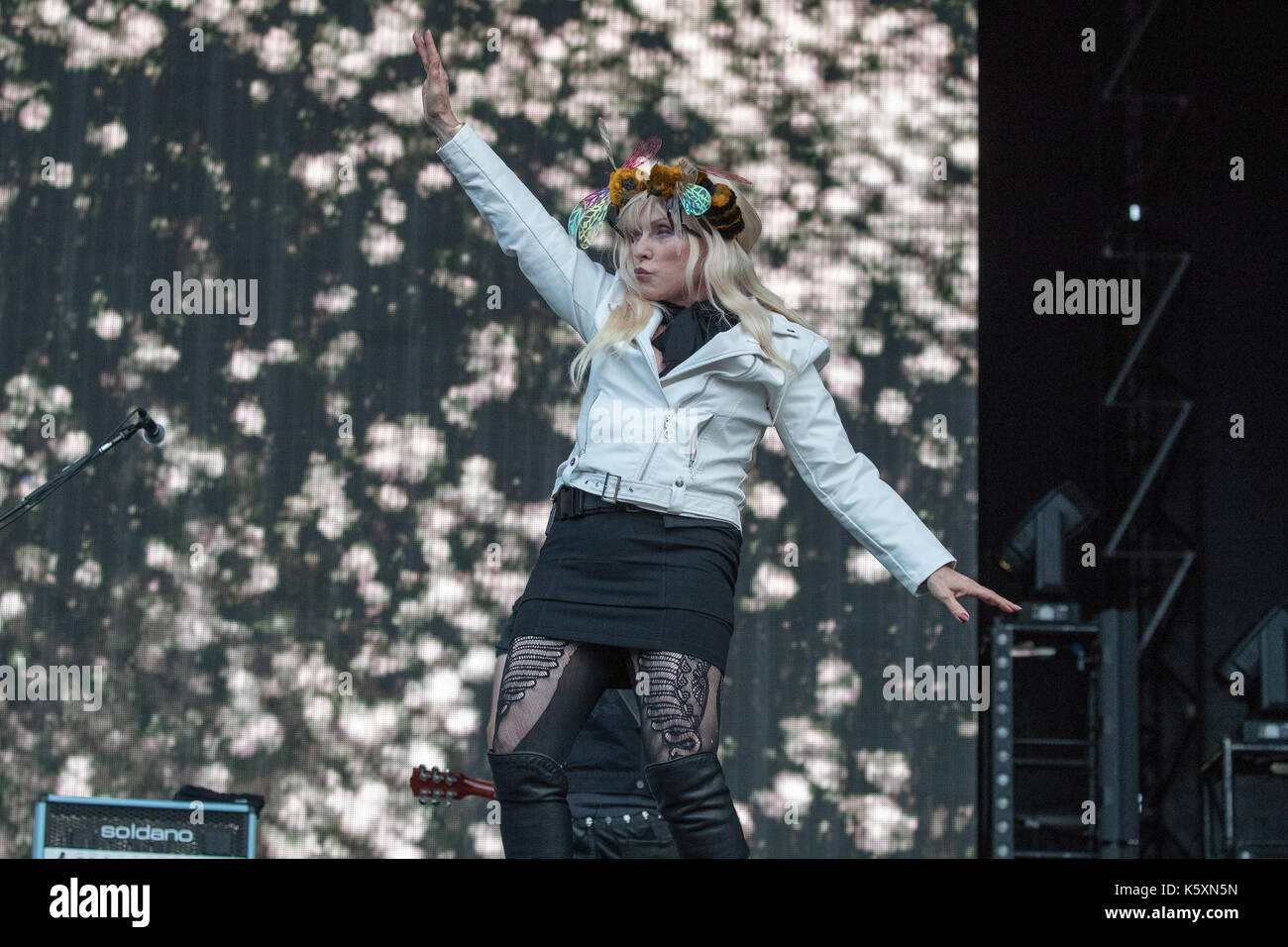 London, UK. 10th Sep, 2017. Blondie performs during Radio 2 Live in Hyde Park 2017 on September 10, 2017, London. Stock Photo
