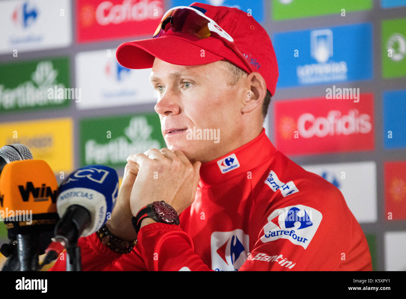 Madrid, Spain. 10th September, 2017. Chris Froome (Team Sky) at the press conference of Tour of Spain (Vuelta a España) between Madrid and Madrid on September 10, 2017 in Madrid, Spain. ©David Gato/Alamy Live News - Stock Image