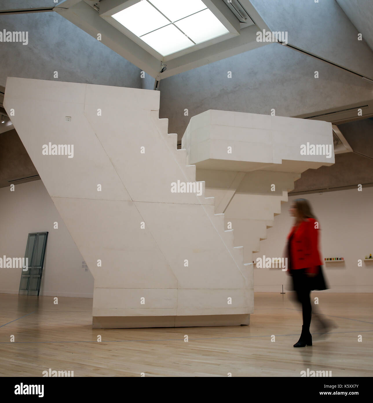London, UK. 11th Sept, 2017. A member of staff looks at 'Untitled (Stairs)' 2001. One of the leading artists of Stock Photo
