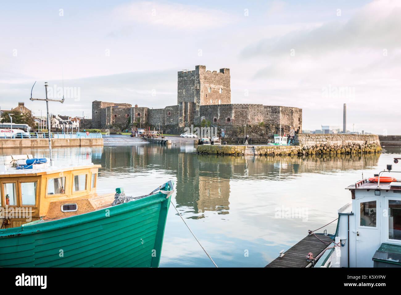 Carrickfergus castle in Northern Ireland - Stock Image