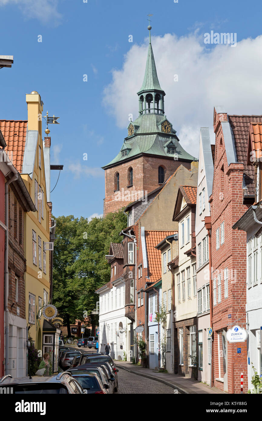 St. Michael's Church, old town, Lueneburg, Lower Saxony, Germany - Stock Image