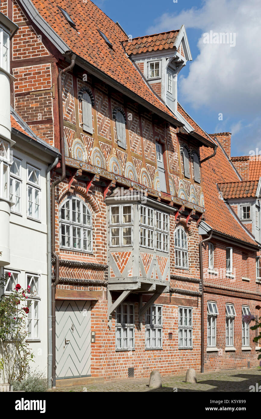 frame house, old town, Lueneburg, Lower Saxony, Germany - Stock Image