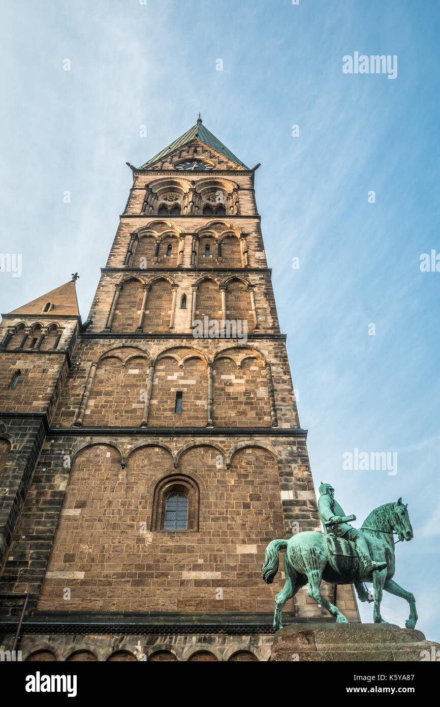 Tower of Bremen Cathedral in Germany Stock Photo