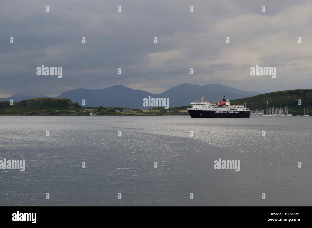 Cal Mac Ferry 'Isle of Mull' at Craignure - Stock Image