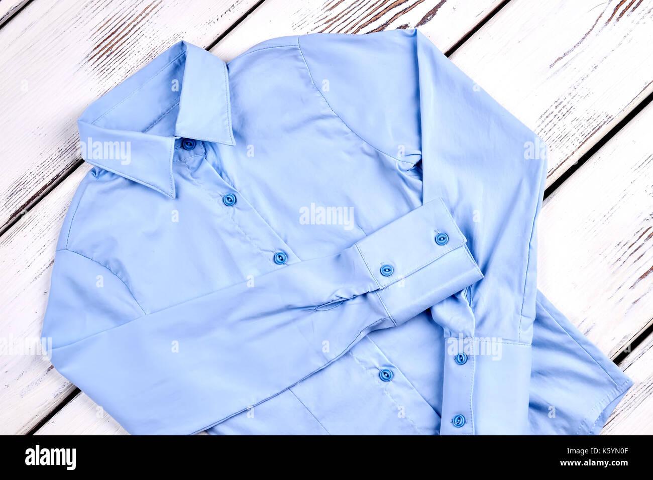 New Light Blue Formal Shirt Girls Beautiful Brand Long Sleeve Blue