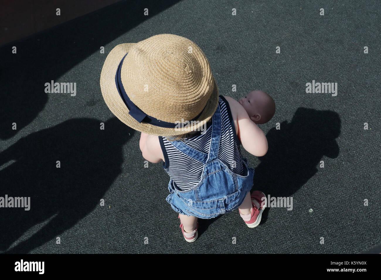 little girl in Amsterdam, Nederland - Stock Image