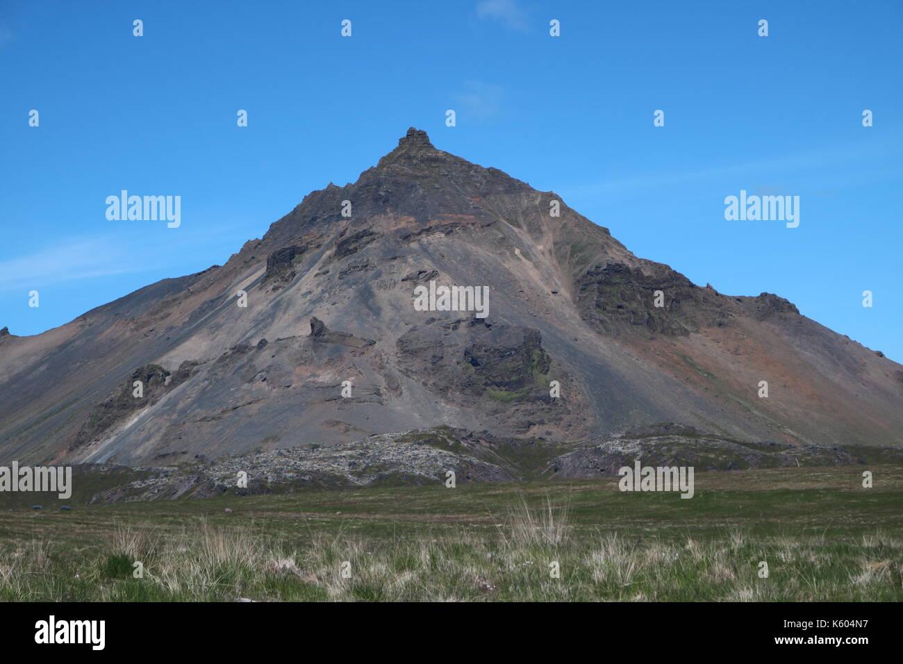 Iceland Mountain - Stock Image