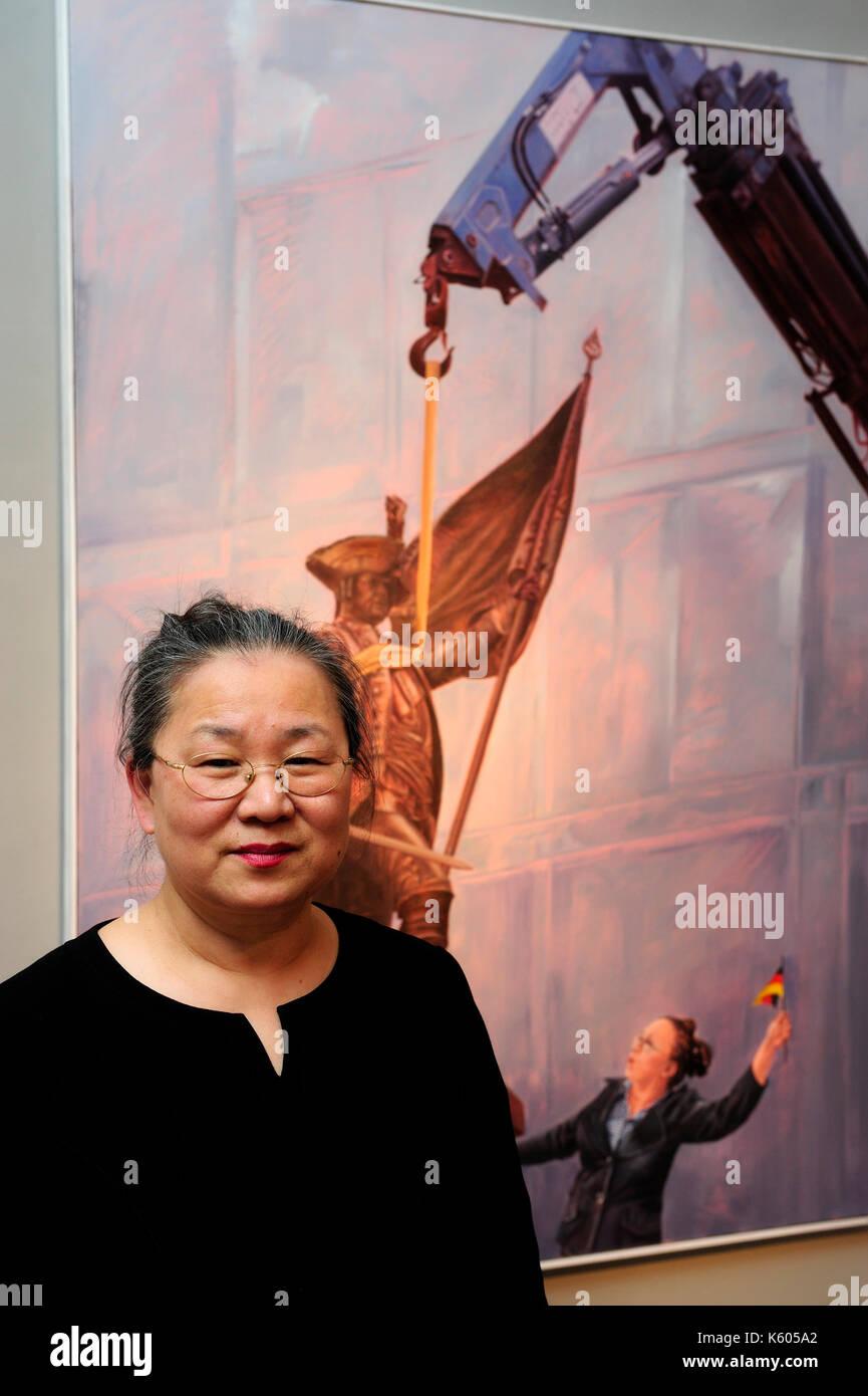 Sooki, Stilles Leben, artist,artist, exhibition, South Korea, Youn-Sook Koeppel, - Stock Image