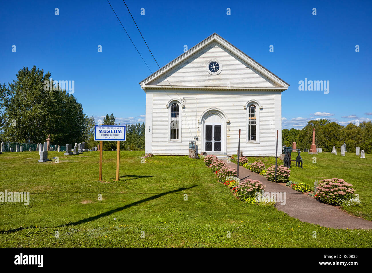 East Hants Historical Society Museum, Heritage Cemetery Lower Selma, Nova Scotia, Canada - Stock Image