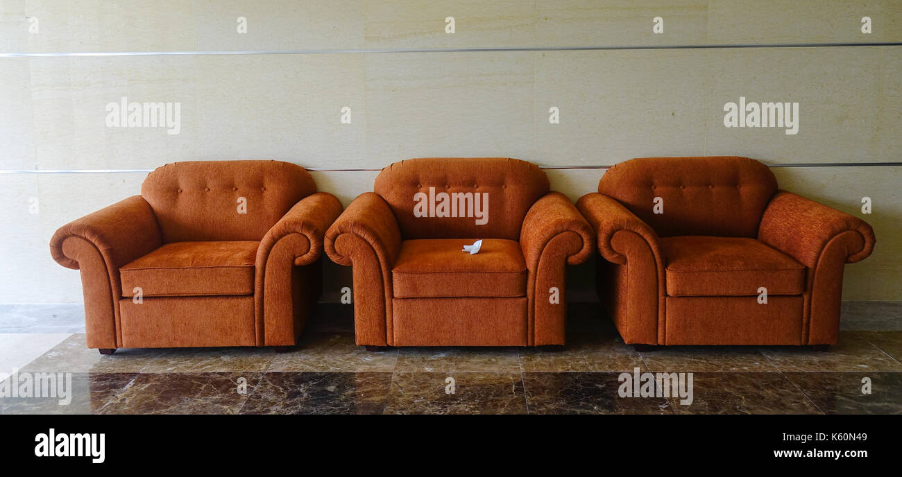 Remarkable Brown Amchairs At Waiting Room Of Luxury Hotel In Dalat Gmtry Best Dining Table And Chair Ideas Images Gmtryco