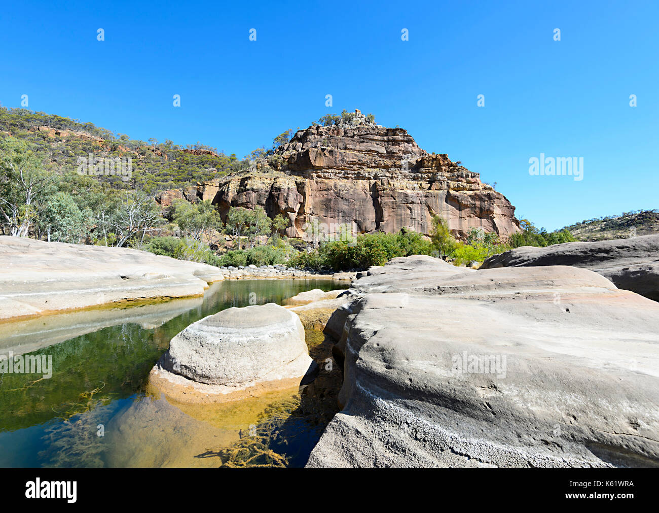 The eroded Pyramid in Porcupine Gorge National Park, Queensland, QLD, Australia - Stock Image