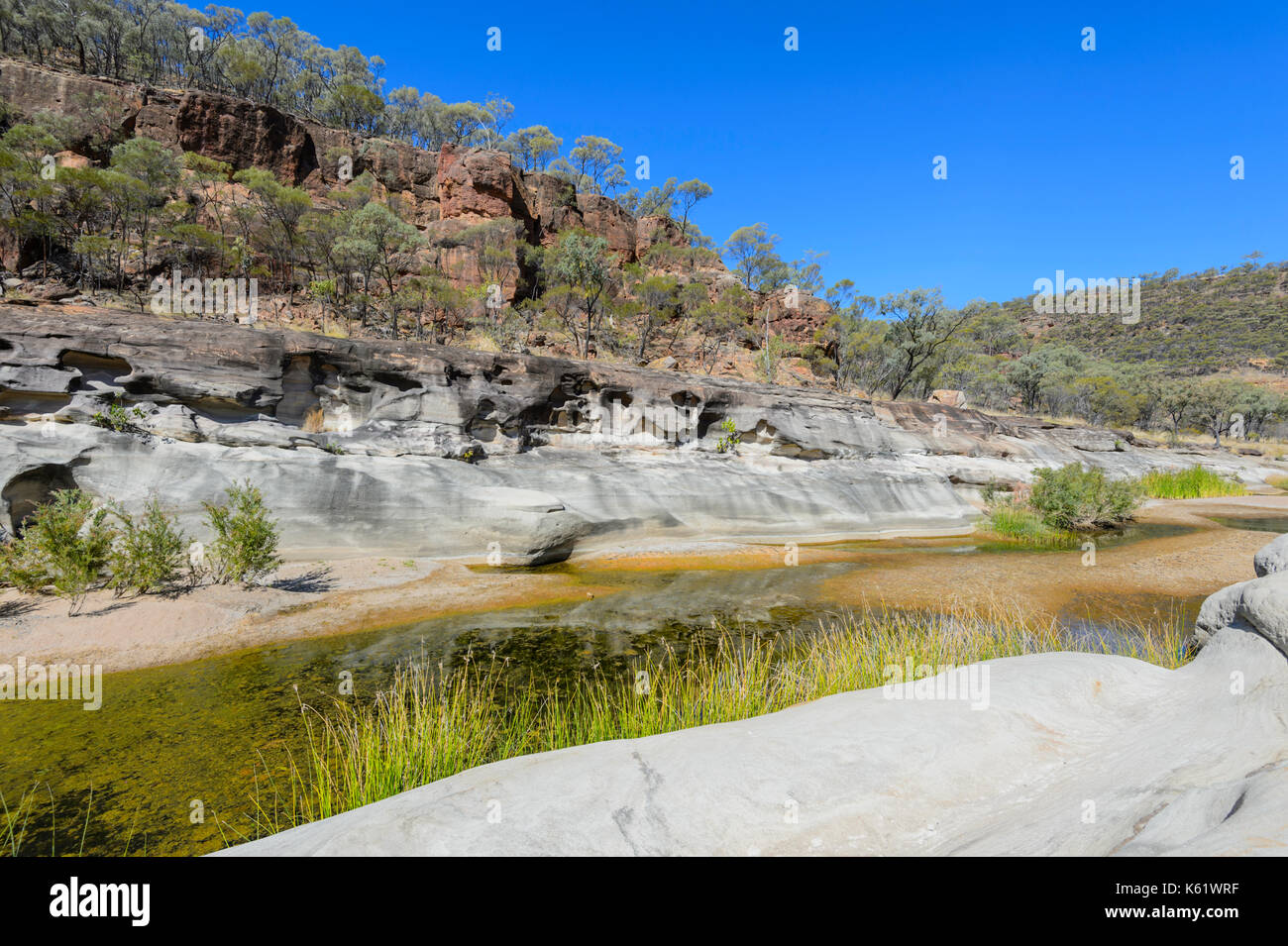 View of Porcupine Gorge National Park, Queensland, QLD, Australia - Stock Image