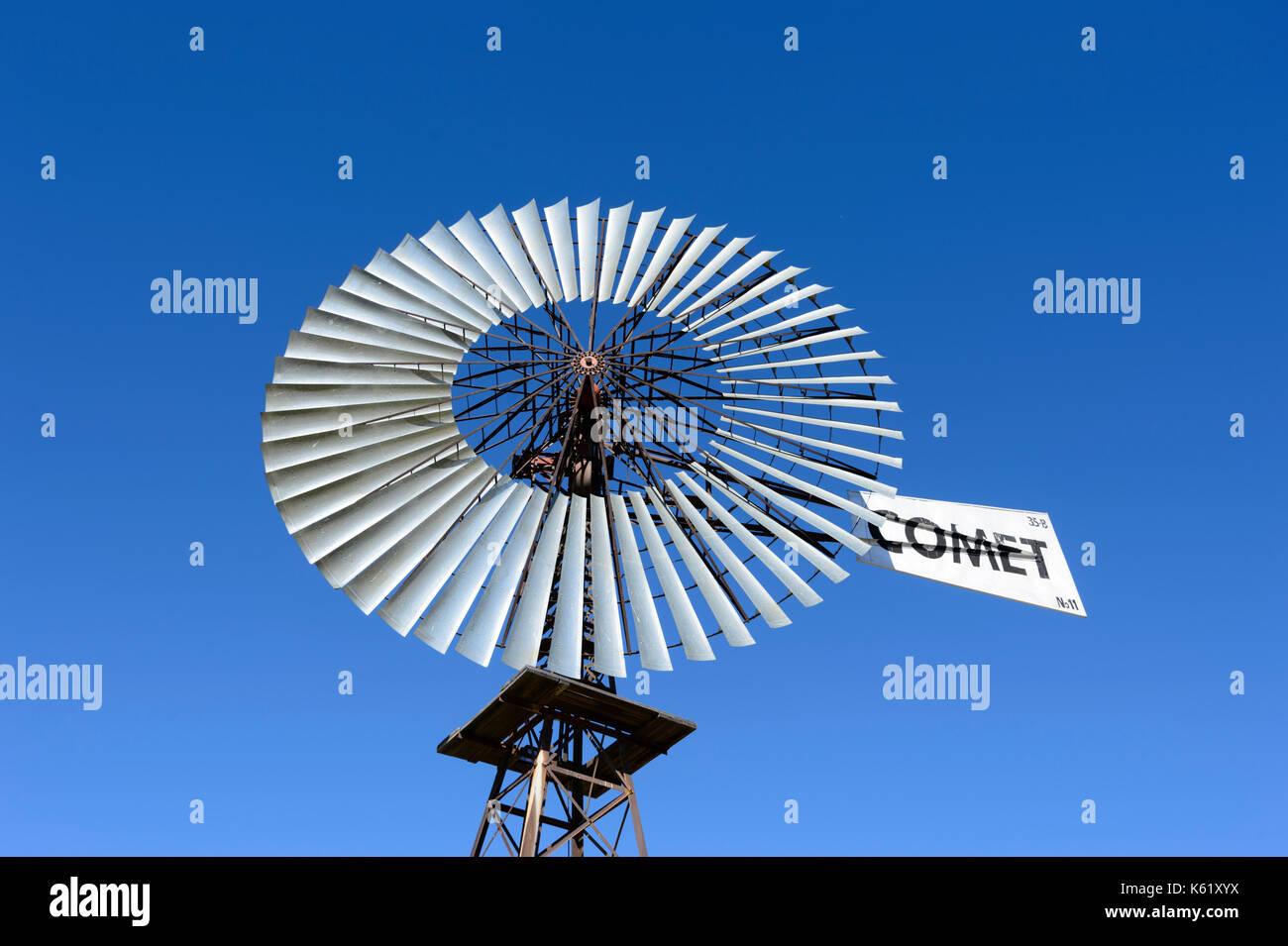 Comet Windmill, Hughenden, Queensland, QLD, Australia - Stock Image