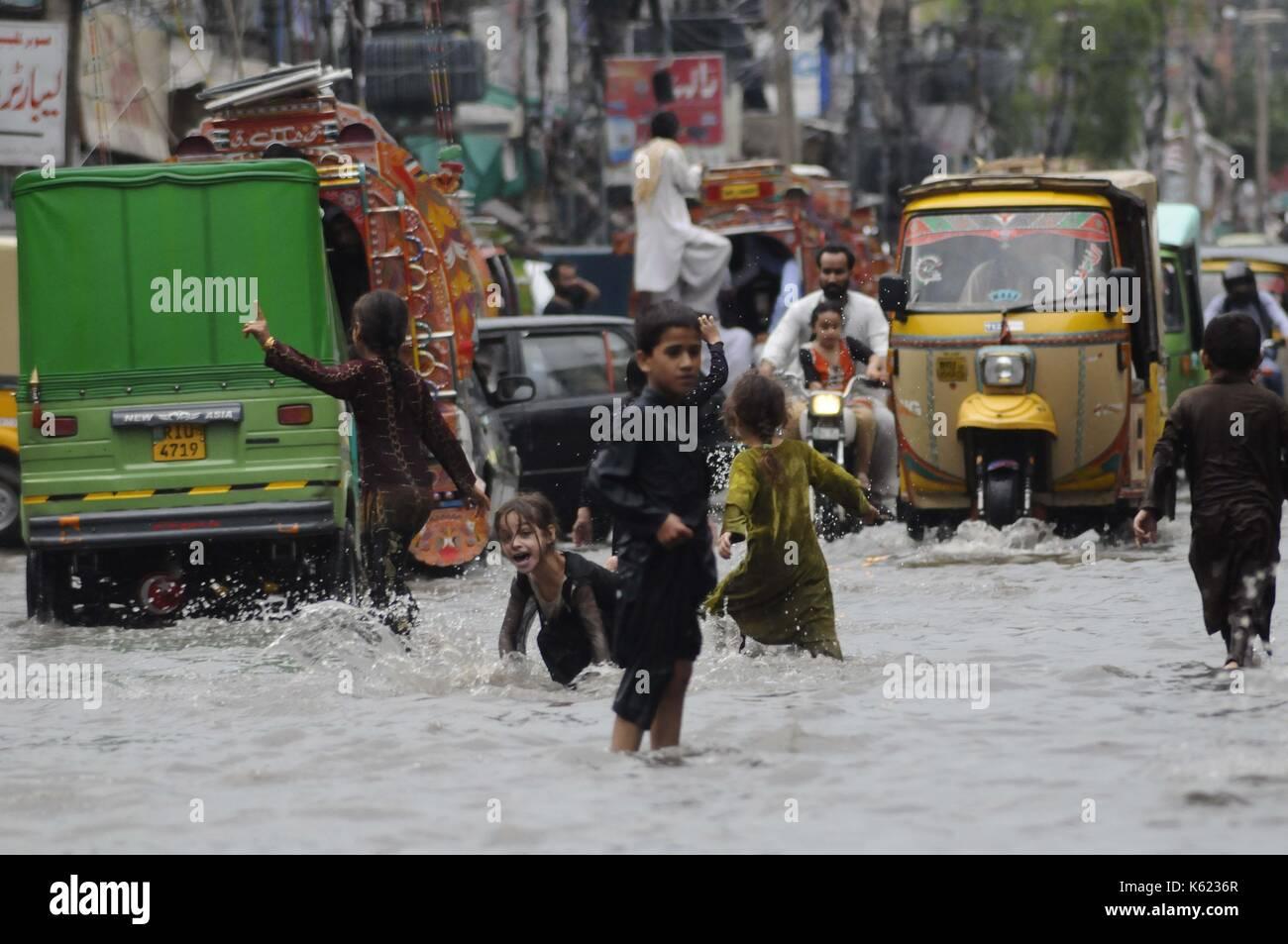 Rawalpindi, Pakistan  10th Sep, 2017  A view of children