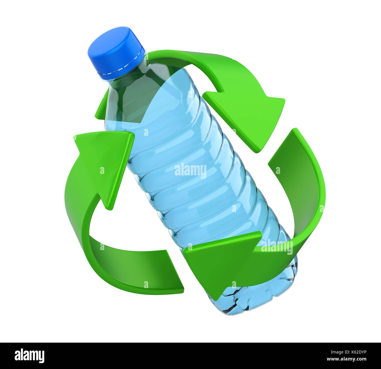 Plastic Bottle Recycling Part - 49: Recycle Sign With Plastic Bottle Isolated