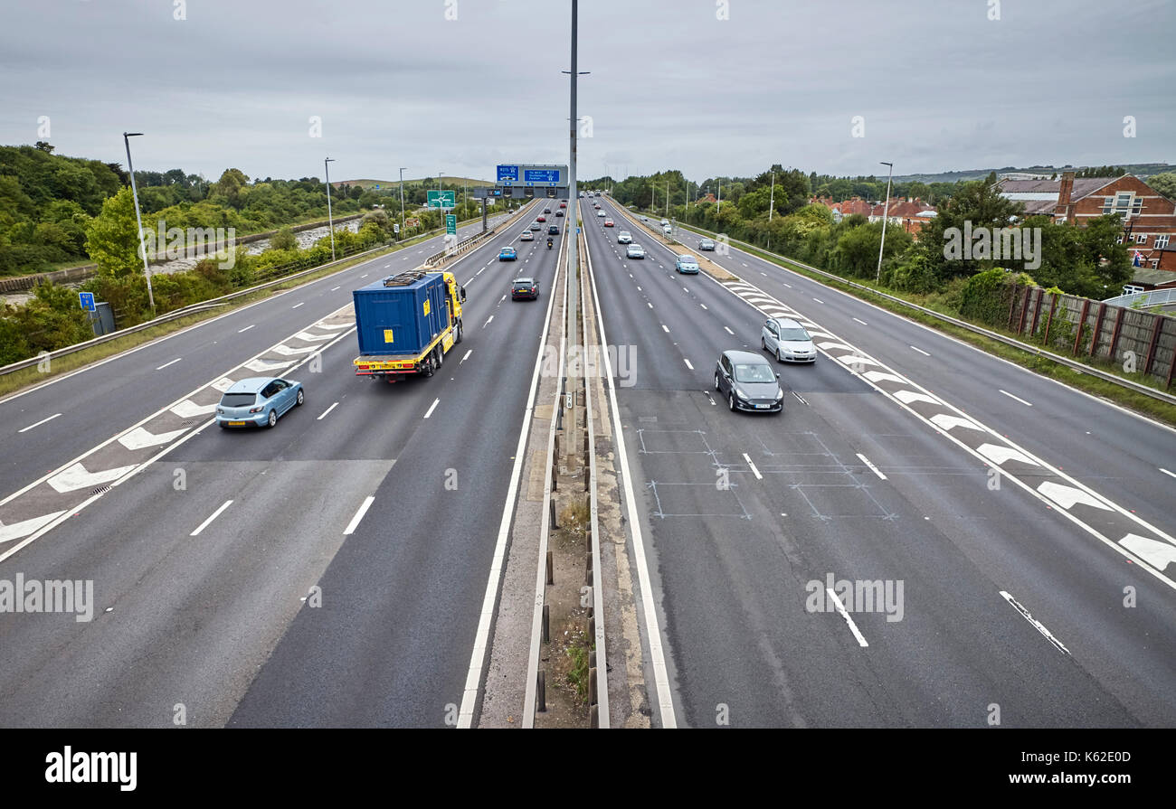 M27 at Cosham, Portsmouth Stock Photo