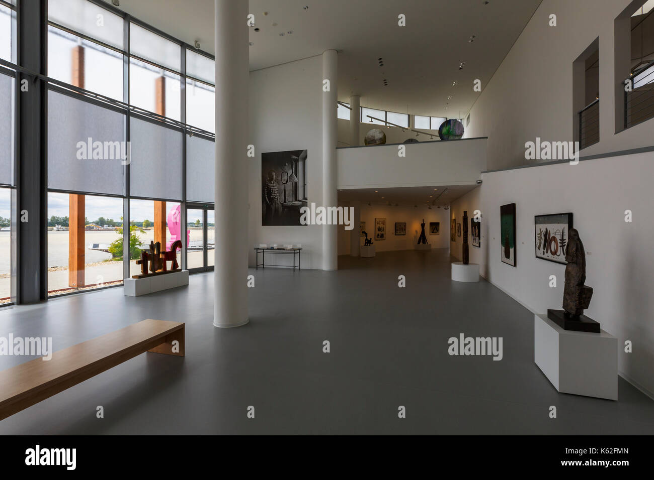 Exhibition spaces of Danubiana modern art gallery in Bratislava, Slovakia. - Stock Image