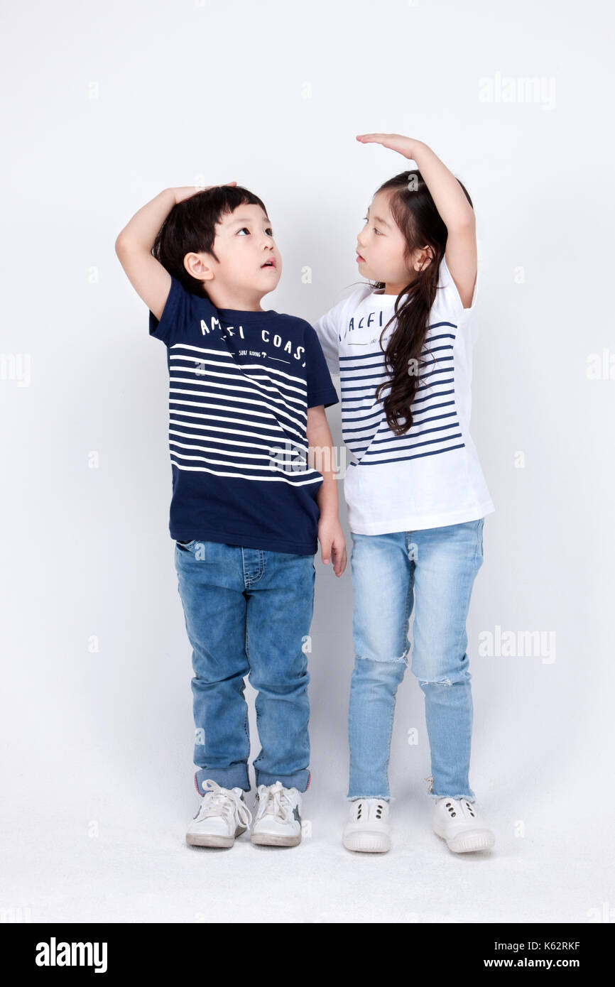 The little girl and boy 245 Stock Photo