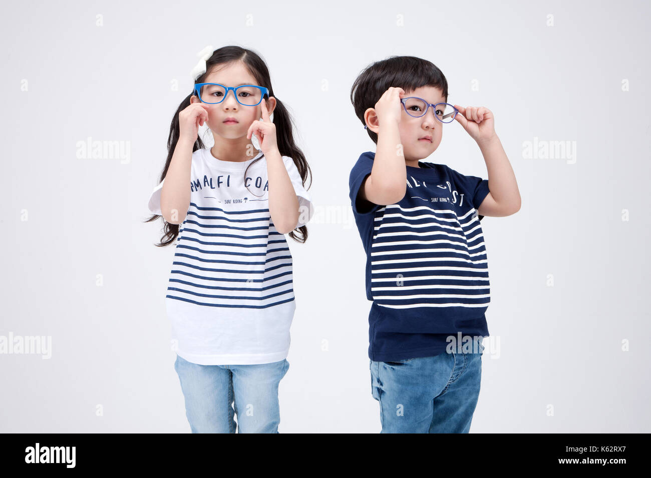 The little girl and boy 253 - Stock Image