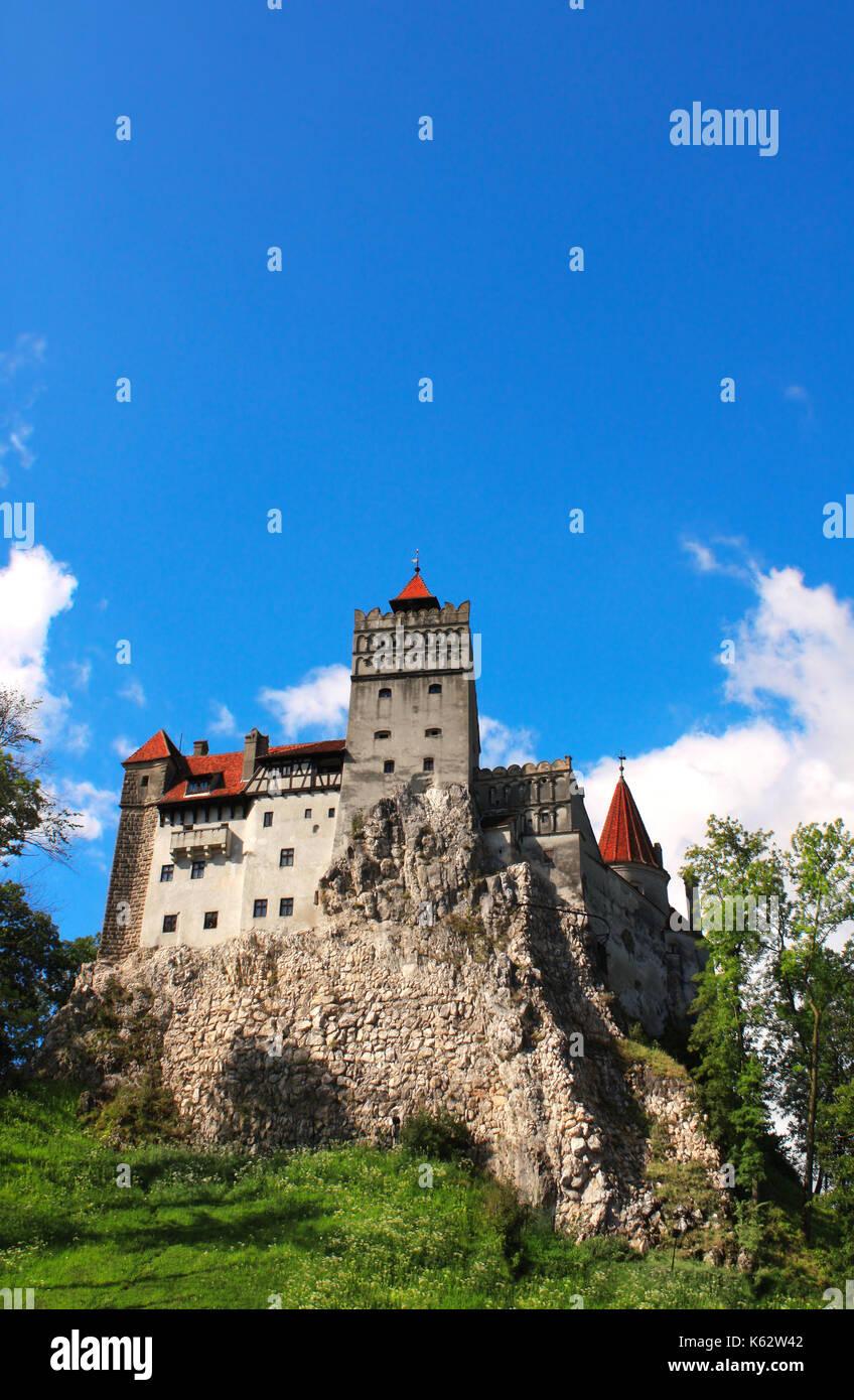 Medieval Castle of Bran (Dracula's castle), Brasov, Transylvania, Romania - Stock Image