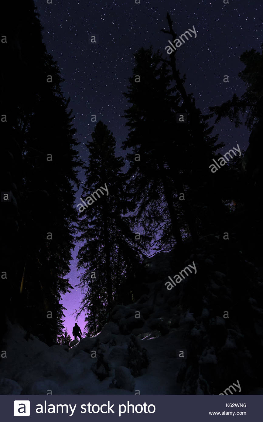 A stalker in the night. - Stock Image