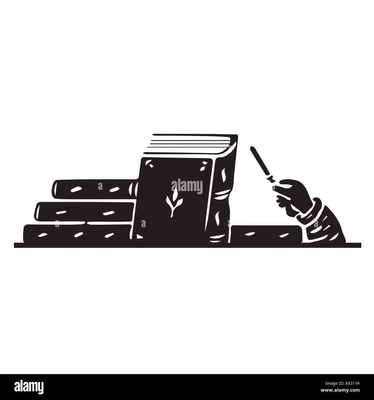 Torah jewish scroll book. Vector icon - Stock Vector