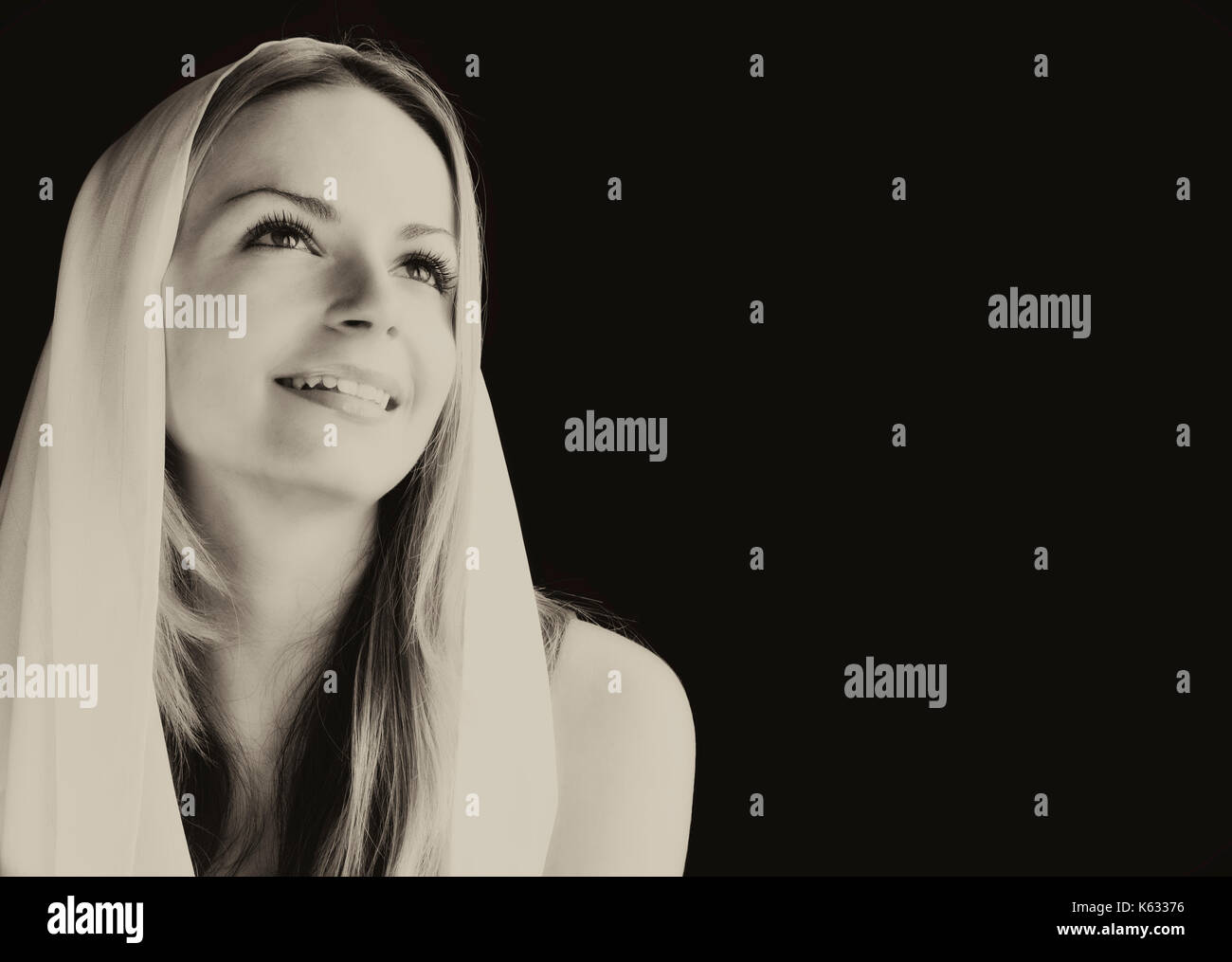 Angelic girl - Stock Image