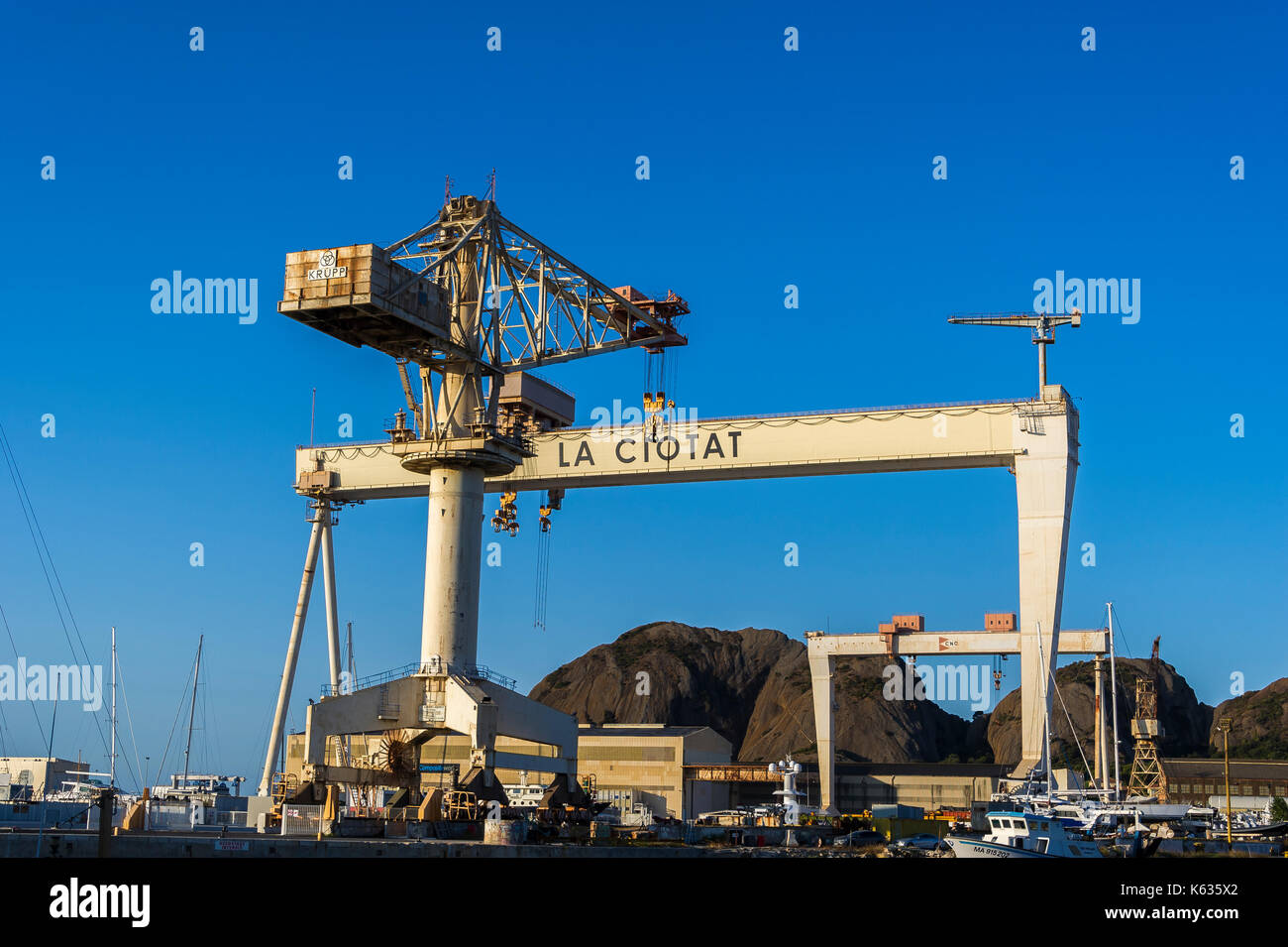 Chantiers Navals de La Ciotat, BDR, France - Stock Image