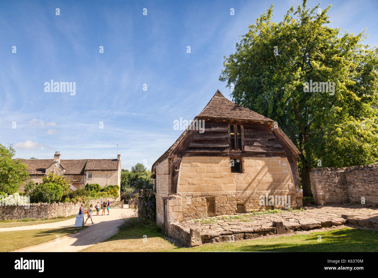 7 July 2017: Bradford on Avon, Somerset, England, UK - Barton Farm, historically an outlying farm of Shaftesbury Abbey. - Stock Image