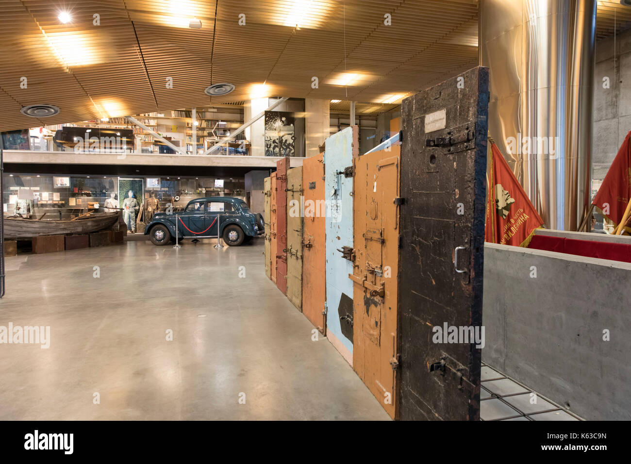Museum of Occupations with prison doors, Tallinn, Estonia, Europe - Stock Image