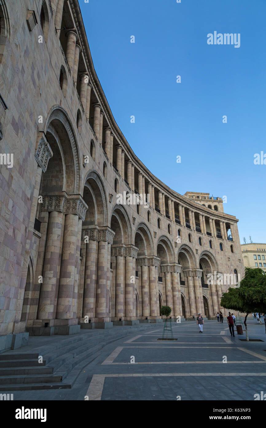 Buildings on Republic Square in Yerevan, Armenia. Stock Photo